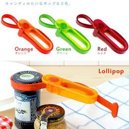 Wholesale - Hands Free Kitchen Tools Multi Can Opener bottle opener Easy Jar Opener Lollipop 20pcs