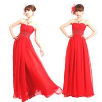 wedding dresses 2011 - 2011 new style China red godness wedding dress hot sell