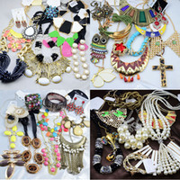 Wholesale Fashion Jewelry Europe Style Necklaces Bracelets Earrings Rings Multi Cheap Jewelry Sets Statement Necklace g