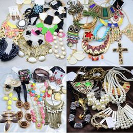 Wholesale Cheap Acrylic Necklaces - Jewelry Sets Statement Necklaces Bracelets Earrings Rings Multi Cheap Jewelry Sets Statement Necklace 500g Free Shipping