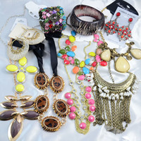 Wholesale Jewelry Sets Cheap Price Foreign Trade Statement Bib Necklace Hot Sale Set Of Jewelry Wedding Jewelry Gram AJ001