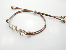 Fashion jewelry charm love letter link bracelet lover gift