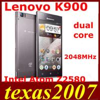 Precio de Lenovo k900-Orgional <b>Lenovo K900</b> Intel Atom Z2580 de doble núcleo de Andriod 4.2 5.5 pulgadas FHD 1920x1080pixels móviles 2G RAM 16G ROM de doble cámara de 13 MP Android