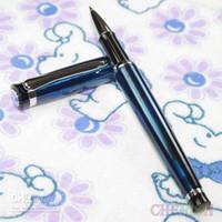 0.5mm baoer ball pen - Baoer polished magic blue and silver roller ball pen