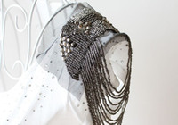 Other asian loop - 2013 New Fashion Punk Style Silver Alloy Women Tassel Brooch Rivet Beads Epaulet Shoulder Loop Punk Jewelry HS1