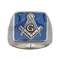 Band Rings fashion Unisex Free Shipping! 3pcs Freemasonry Masonic Stainless Steel Casting Ring MER05-22