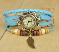 Wholesale Fashion Rope Watch Hand knitted Leather Watches Roman Characters Retro Dress Watch Women Bracelet Wrist Watch