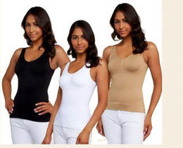 Wholesale - Free Shipping Cami shaper by Genie with Removable Pads ,the Ultimate 3 in 1 Garment 3 Colors available,100pcs lot