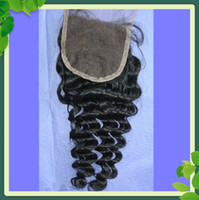 Hot Sell Deep Wave Top Lace Closure Brazilian Hair, 100% Virg...