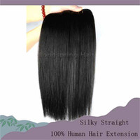 Wholesale Hair Weave Indian Straight Ponytail Human Hair Weave Mix Length inch bundles Hair Extensions Cheap Remy