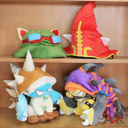 Wholesale 4 STYLES LOL League of Legends HAT PURPLE Dragon Turtle Faery Witch LuluTeemo