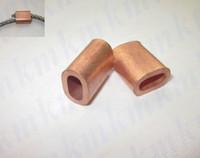 Wholesale single hole oval type MM brass ferrule sleeves