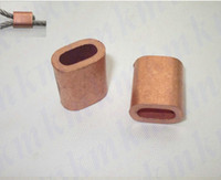 Wholesale single hole oval type MM wire rope clip or pipe copper brass ferrule sleeves connector fittings