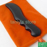 bian stone needle - Traditional Bian Needle therapy black bian stone massage guasha tool x30x11mm