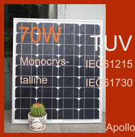 Wholesale 70W Solar Panel Monocrystalline Silicon Photovoltaic Module Panels Solar Cells DIY Grand A Waterproof Power Generating System For V