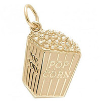 yes China (Mainland) Zinc Alloy free shipping 100pcs a lot the gold \ rhodium plated pop corn charm (H104905)