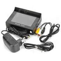 Wholesale 4 quot TFT LCD Wrist Style Rechargeable NTSC PAL Surveillance Camera Video Tester Security tester Black sets