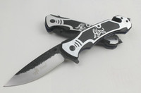 aviation lighting - Steel Talons F51 Tactical Hunting Pocket Knife Folding Knives CR13 HRC Sanding Light Blade Aviation Handle sample freeshipping