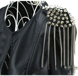 New Fashion Gold Silver Punk Rivets Tassel Spike Pin Brooch For Women Punk Jewelry 12 Pcs Lot HS2