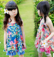 TuTu baby montage - 2013 Hot Fashion girl clothing Broken flower montage round dot lacework gallus Flower skirt pure cotton sleeveless baby dress