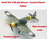 Wholesale 1 finished world war II Finland MS406 Morane Sauniere piston propeller fighter model military aircraft model