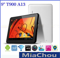 Wholesale A13 Inch Android Tablet PC T900 F900 Allwinner A13 MB DDR3 GB WIFI GHz Camera USB G Thin