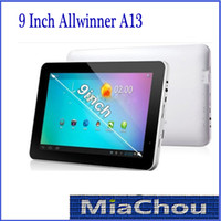 Wholesale 9 Inch Android Tablet PC T900 F900 Allwinner A13 MB DDR3 GB WIFI GHz Camera USB G Thin
