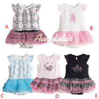 Wholesale Lowest Price girls summer tutu dress rompers Girls Colorful Tutu Skirt Short Sleeved Costume Pettiskirt Romper Lace dress T u pick color