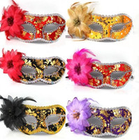 Wholesale 2013 HOT Beautiful Clown Mask Color Masks for a Masquerade Party Costumes Accessories LP057