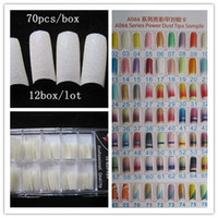 Cheap Free shipping--Wholesales 70PCS BOX Fashion Cream Glitter False Nail Tips fake Nail Pre Design Acrylic Nail Art Manicure #03