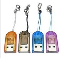 Wholesale 200pcs Smart Mini Card Reader USB Memory Micro SD gb gb TF Writer Mixing Colors Black Red4gb gb gb gb