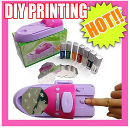 Wholesale 7 Colors DIY Nail Printer Pattern Nail Polish Printing Machine Nail Art Stamping Machine