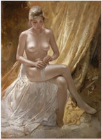 One Panel Oil Painting Traditional MODERN Oil painting Nude naked woman handpainted on (No frame)
