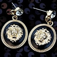 Wholesale Super cool Lion head women punk dangled EARRING Earrings Ear Jewelry Egyptian style focus earring