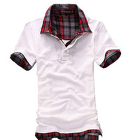Men Cotton Polo Free shipping 2013 New Mens T Shirt Men's Short Sleeve Slim Fit Polo Shirt For Men 3 Colors M-XXL BDP05