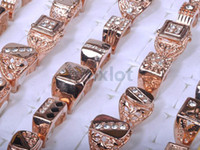 Wholesale Rose Gold P CZ Rings Fashion Finger Rings Jewelry Rings Costume Jewellery Rings Gift MR26