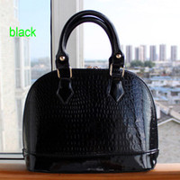 Wholesale 6 Color women Crocodile Pattern PU leather women handbag Fashion Bag Tote Bags Promotion