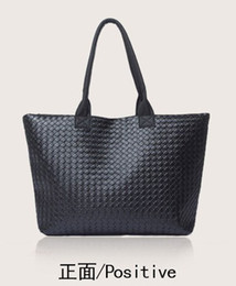 Las mujeres baratas bolsas de cuero negro en Línea-Hoteles de de Bolsos de Mujer de la Bolsa de tejidos de Punto Negro Cuero de la PU de Corea del Estilo de 1PCS Mucho de Envío Gratis 0625B11