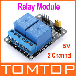 Wholesale 2 Channel V Active Low Relay Module Board for Arduino PIC AVR MCU DSP ARM Freeshipping H9467