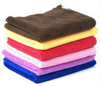 Wholesale x40cm Nanometer superfine fiber Microfiber Towel Car Cleaning Wash Clean Cloth Free ship