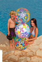 Wholesale new beach ball transparent handball beach volleyball beach water toys water fun adult kid inflatable water ball free ship
