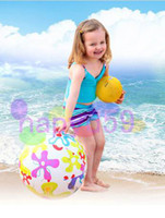 Wholesale free ship water fun adult kid inflatable water ball beach ball transparent handball beach volleyball beach water toys