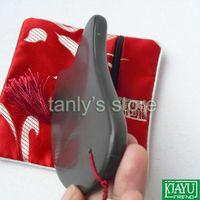 Health Care bian stone - amp retail A grade Original Si Bin Brown Bian stone massage guasha plate x64x9mm high quality