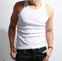 Cotton basic underwear - Men s Tank Top Underwear Cotton T Shirt Summer Slim Tank