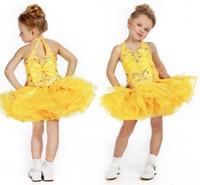 Halter kids pageant dress - Fashion Custom Children Dress Girls Pageant Dresses Girls Short Pageant Dresses Yellow Kids Pageant Dress Pattern Olesa