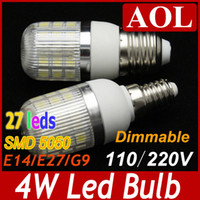 Wholesale Bright Dimmable V V LM W G9 E27 E14 SMD LED Corn Lamp White and Warm White spot light degree led house bulbs