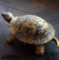 Wholesale Classical bronze cast iron tortoise ashtray creative home decorations personality office suppliers Turtles with lid ashtrays t5411