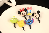 animal earphones - Disn animal Earphone Jack Dustproof Ear Cap Plug Anti dust Stopper for iphone S G