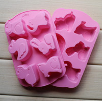 Wholesale 2013 NEW style holes animals shape silicone soap mold cake decorating Chocolate Jelly pudding mould baking moulds Cupcake
