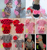 Girl 0T-3T Summer Baby clothing Cute baby suit Tops+Short Pants+Headband Baby wear Best selling #9539